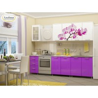 Кухня Орхидея (ЛДСП) 2м